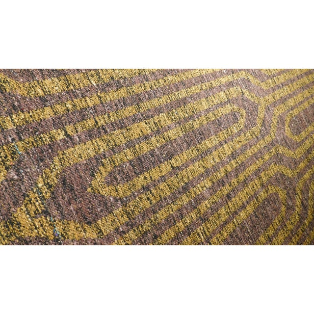 "Modern Flat Weave Rug - 8' X 10'5"" For Sale - Image 4 of 10"