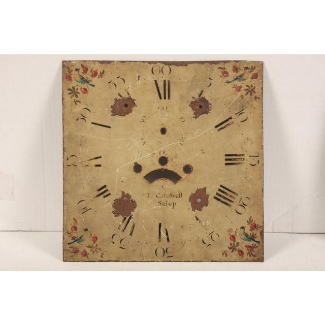 Mid 19th Century 19th-C. English Hand-Painted Clock Face For Sale - Image 5 of 5