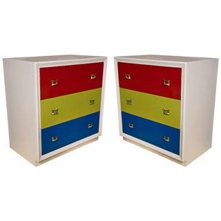Mid-Century Modern Style Chests of Drawers / Commodes / Night Stands - a Pair For Sale