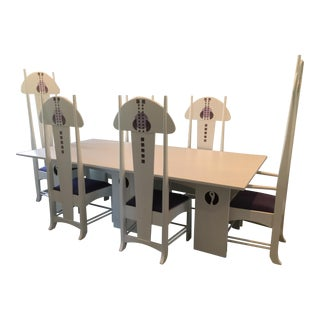 Art Nouveau Dining Table and Chairs - Set of 9 For Sale