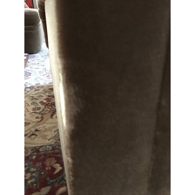 Thayer Coggin Oversized Mohair Club Chairs - Milo Baughman Style - a Pair For Sale - Image 10 of 11