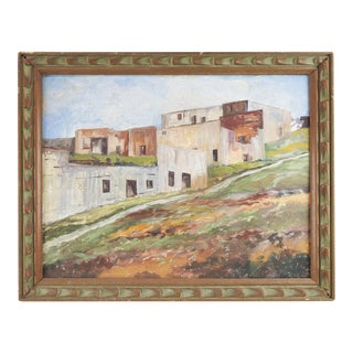 Adobe Village Painting For Sale