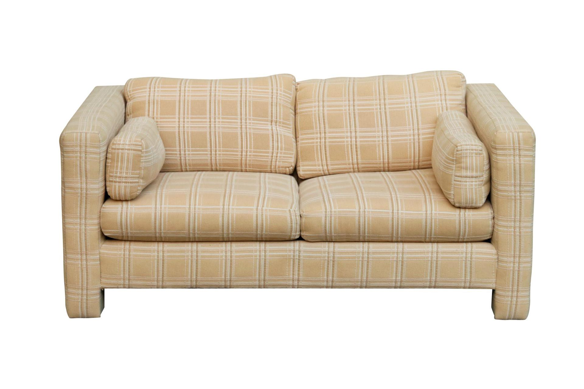 A Mid Century Modern Sofa Designed By Milo Baughman And Made By Thayer  Coggin, Upholstered