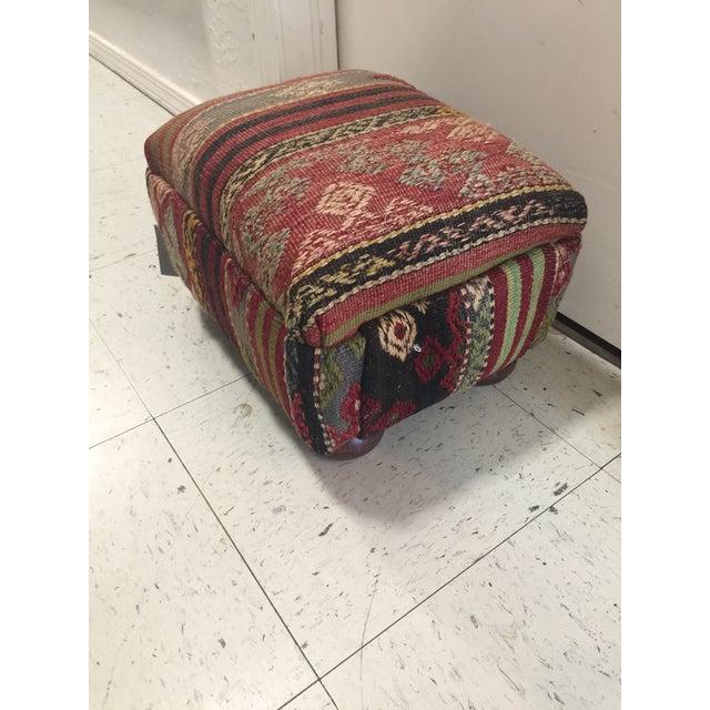 Kilim Rug Ottoman - Image 2 of 4