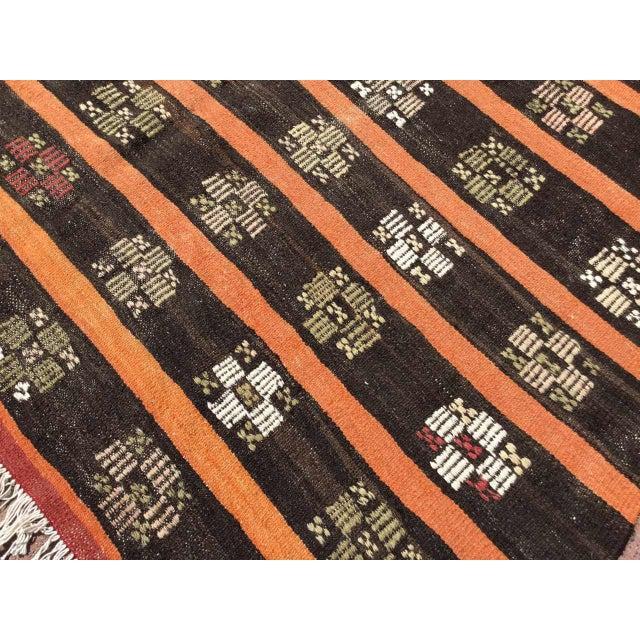 Black Vintage Turkish Kilim Rug For Sale - Image 8 of 11