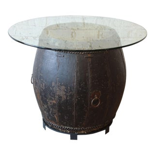 Antique African Drum Table