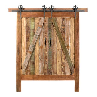 Reclaimed Barn Door Queen Headboard For Sale