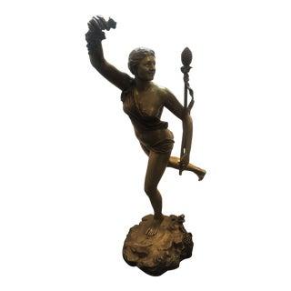 "Circa 1900 ""Allegory of the Harvest"" Figurative Bronze Sculpture For Sale"