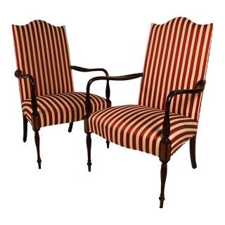 Hickory Chair Mahogany Federal style Martha Washington chairs - a Pair