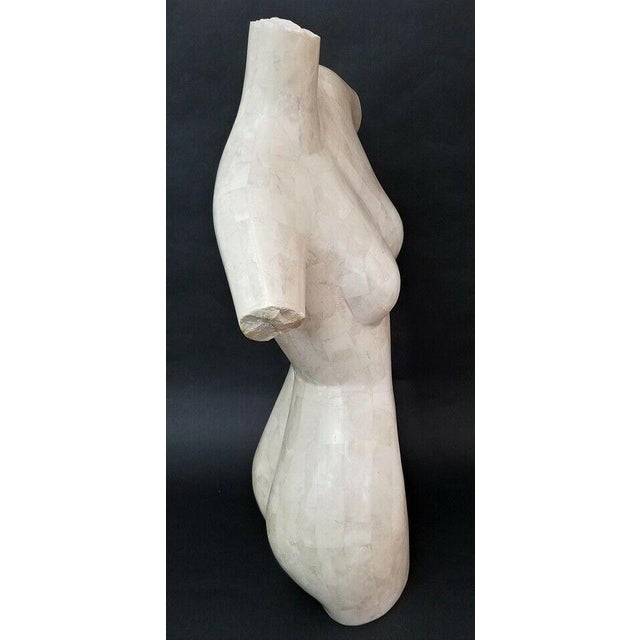 Modern Marquis Collection Beverly Hills Tessellated Stone Female Nude Torso For Sale - Image 3 of 7