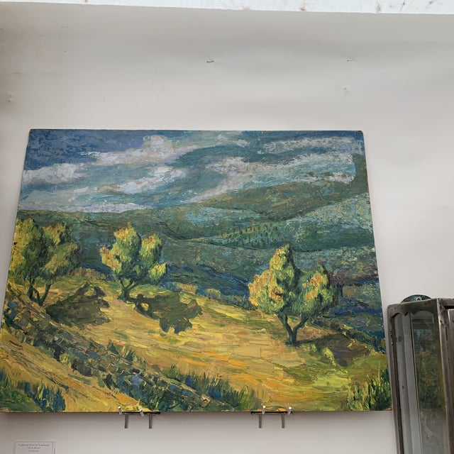 1920s California Plein Air Landscape Painting For Sale - Image 5 of 6