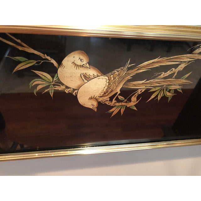 Labarge Eglomise Chinoiserie Mirror - Final Markdown For Sale - Image 11 of 12