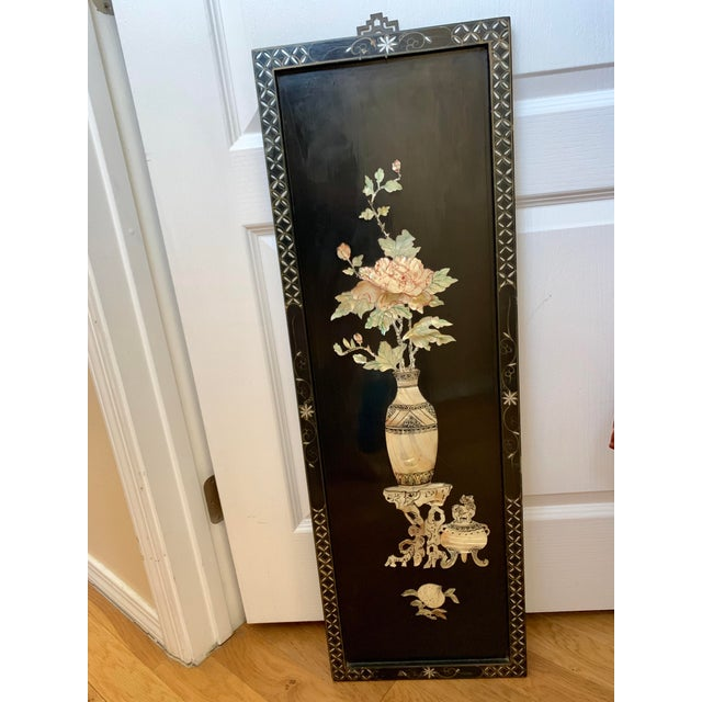 Midcentury Mother of Pearl Asian Chinoiserie Wall Accent For Sale - Image 12 of 13