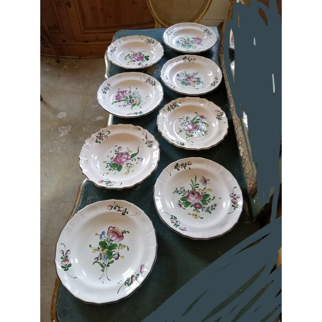 White French Faience Bowls Set of Eight For Sale - Image 8 of 8