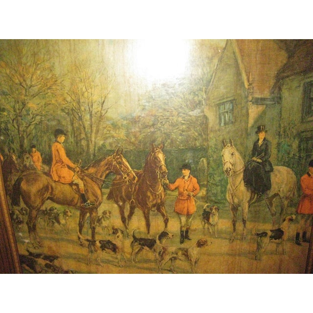 Late 20th Century Vintage Card Table With Equestrian Hunt Scene For Sale - Image 5 of 13