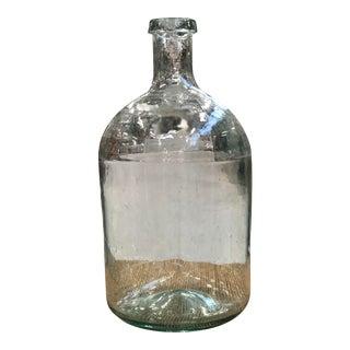 Vintage Aqua Demijohn Bottle For Sale