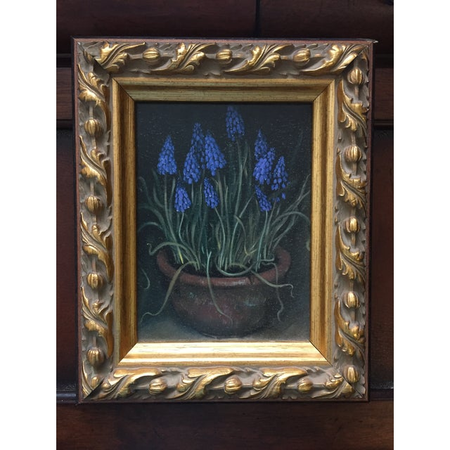 Framed Painting of Flowers in a Clay Pot - Image 2 of 5