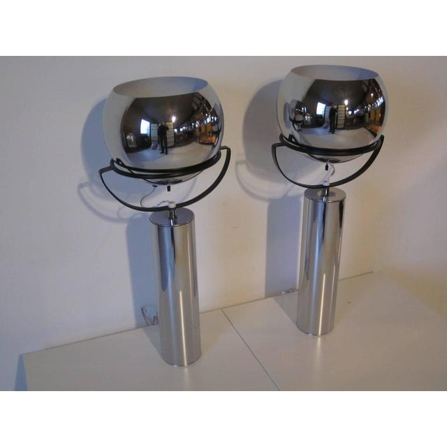 Robert Sonneman Adjustable Ball Table Lamps - a pair For Sale In Cincinnati - Image 6 of 7