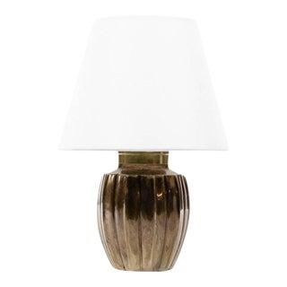 Lawrence & Scott Ocha Table Lamp in Brass For Sale