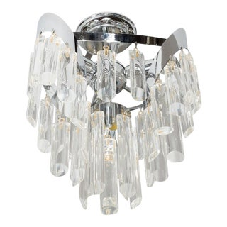 Mid-Century Modernist Chandelier by Lobmeyr with Crystal Rods For Sale