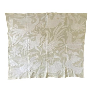 Vintage Otomi Embroidered Panel For Sale