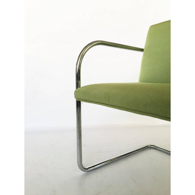 1970s Pair of Brno Chairs in Green For Sale - Image 5 of 9