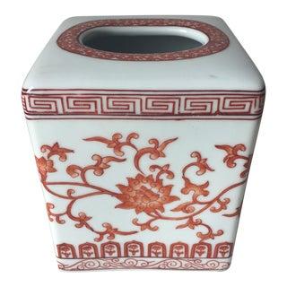 Chinoiserie Ceramic Tissue Box-Cinnabar Designs