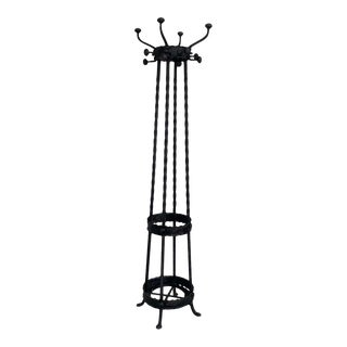 French Art Nouveau Cast-Iron Coat Stand With Eight Hooks For Sale