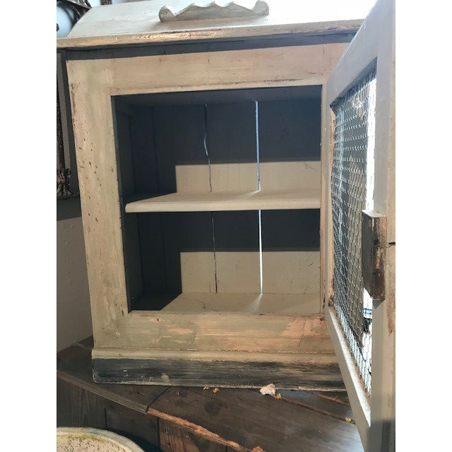 Country Antique Wire Front French Cupboard For Sale - Image 3 of 5