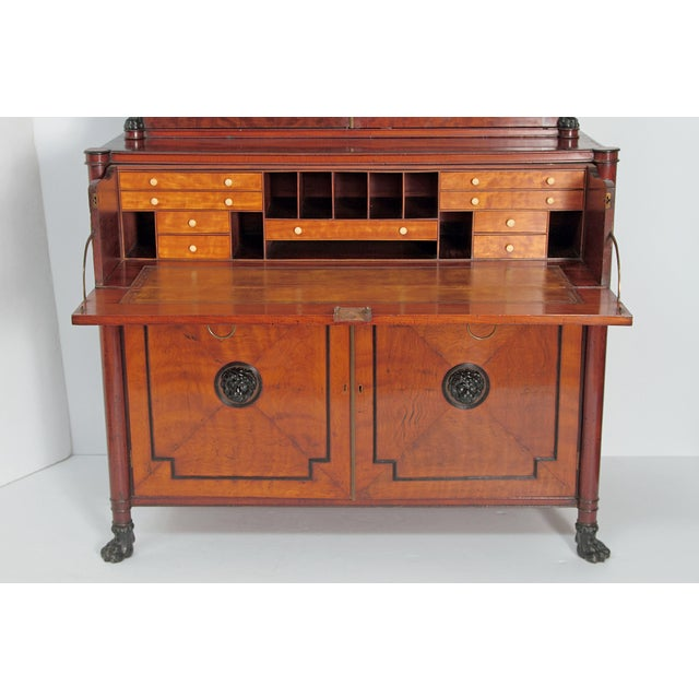 Period English Regency Secretary Cabinet With Ebonized Trim For Sale - Image 11 of 13