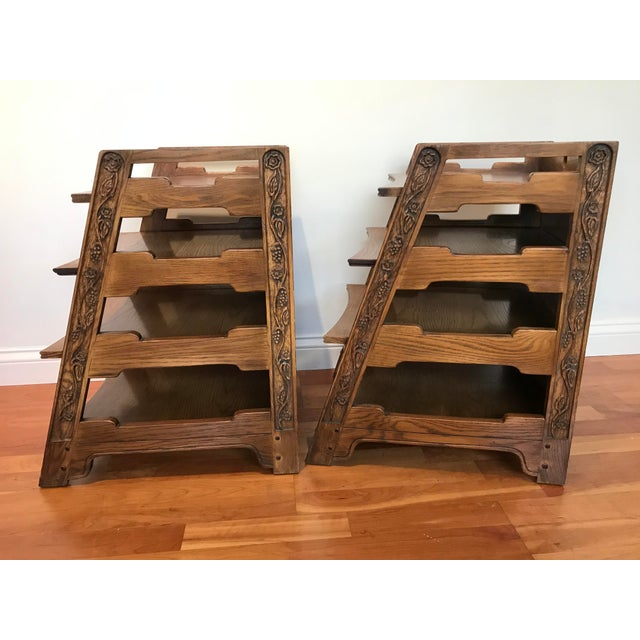 Romweber Viking Oak End Table Nightstands Magazine Shelf 5712 5-950 Arts and Crafts - a Pair For Sale - Image 11 of 13