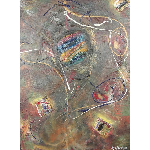 Abstract Mixed Media Painting by A. Marshall - Image 1 of 8