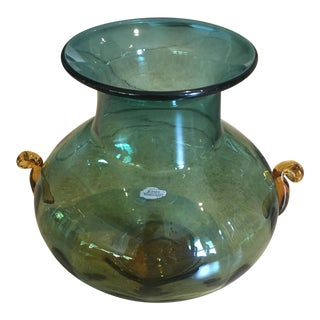 Large Blenko Art Glass Vase