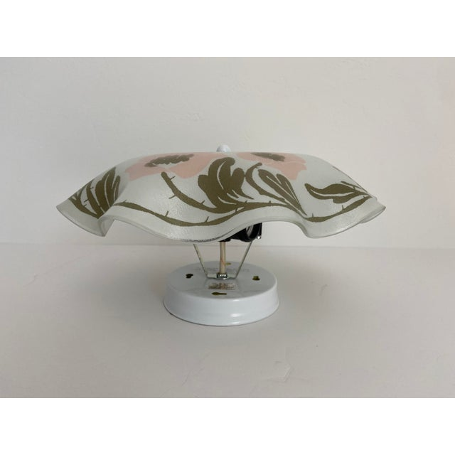 1950s Ruffled Floral Flush Light For Sale - Image 5 of 7