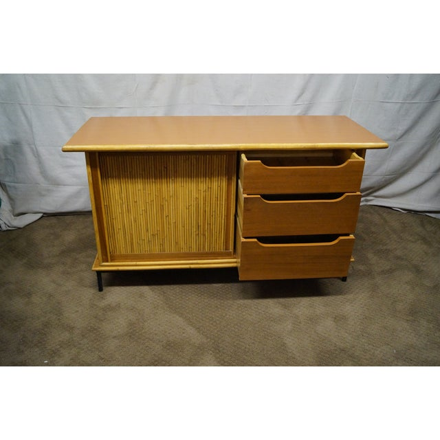 Mid-Century Bamboo Rattan Sideboard Credenza - Image 7 of 10