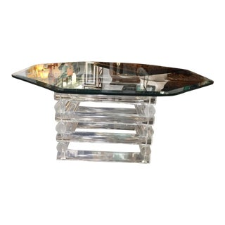 Vintage Lucite Rod Coffee Table For Sale