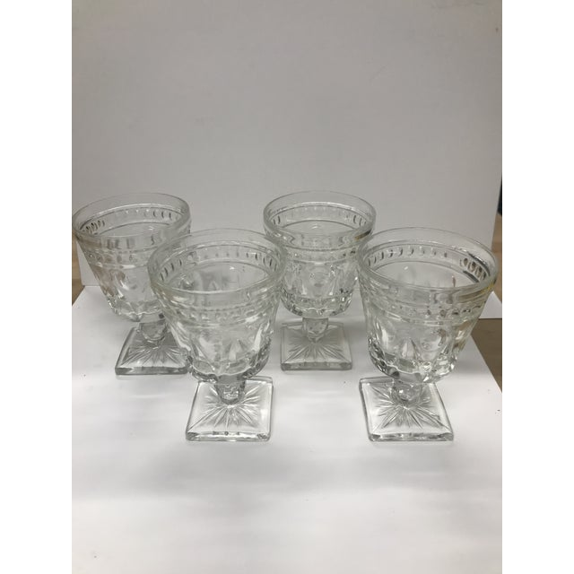 Transparent Vintage Indiana Glass Colony Park Lane Wine or Water Glasses - Set of 4 For Sale - Image 8 of 8