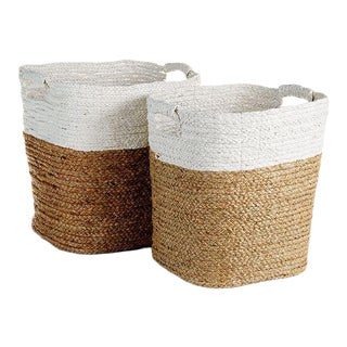 Madura Rectangular Baskets from Kenneth Ludwig Chicago - Pair For Sale