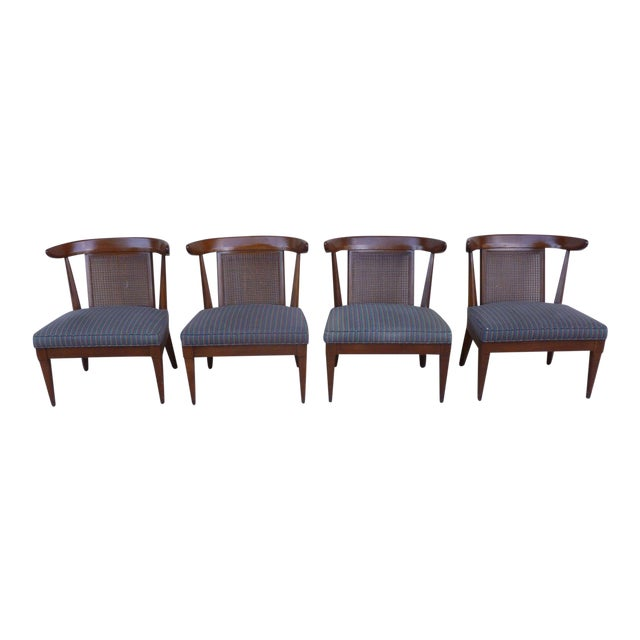 1950's Vintage Klismos Style Slipper Chairs- Set of 4 For Sale