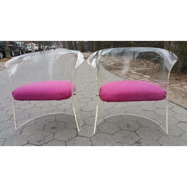 1970's Mid-Century Flexuous Lucite Chairs - A Pair - Image 8 of 9