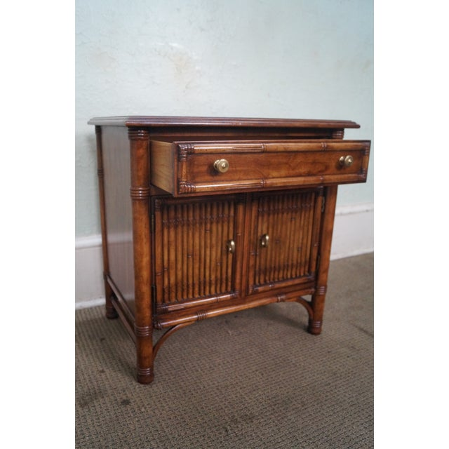 Drexel Heritage Faux Bamboo Nightstands - A Pair - Image 9 of 10