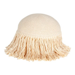 Joni Fringed Pillow in Cream For Sale