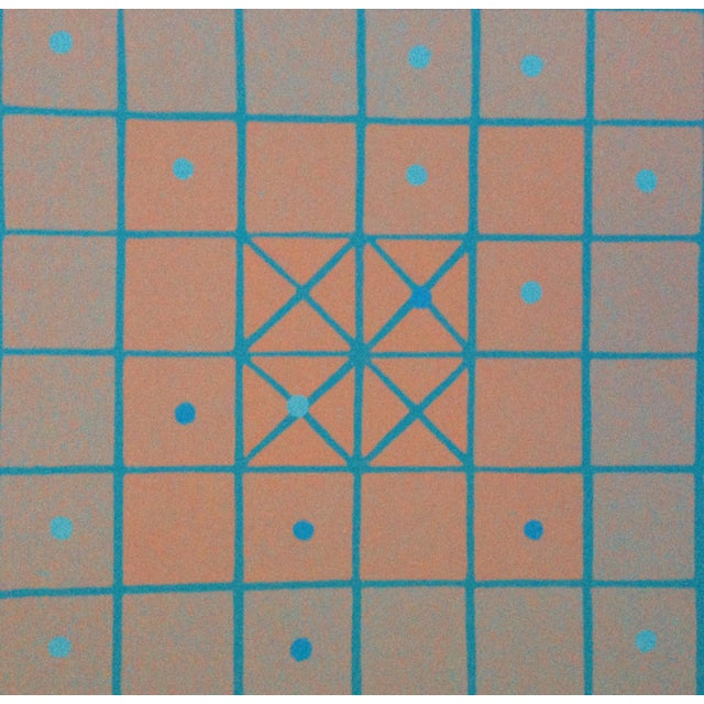 """Judith Azur """"Shatagma, Wargame"""" 1973 Silkscreen on Paper 24 1/2"""" x 24 1/2"""", unframed Signed lower right in pencil Judith..."""