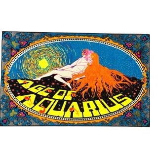 """Age of Aquarius"" Black Light 60's Poster For Sale"