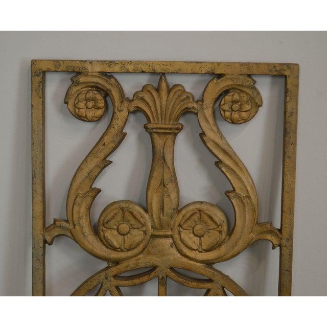 Art Deco Antique Vintage 1940's Set of 9 Cast Iron Railing Panels For Sale - Image 12 of 13