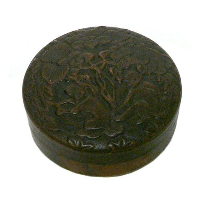 Chinese Metal Bronze Trinket Box For Sale