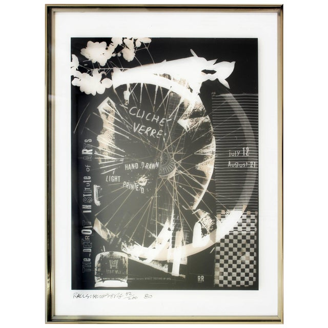 Mid-Century Modern Robert Rauschenberg Signed Photolithograph, 1980 52/200 For Sale