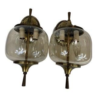 Brassl Brass Sconces - Pair For Sale