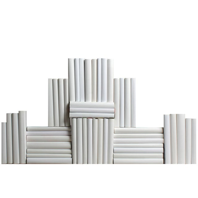 Contemporary The Modern White Wrapped Book Wall - Set of 50 For Sale - Image 3 of 3