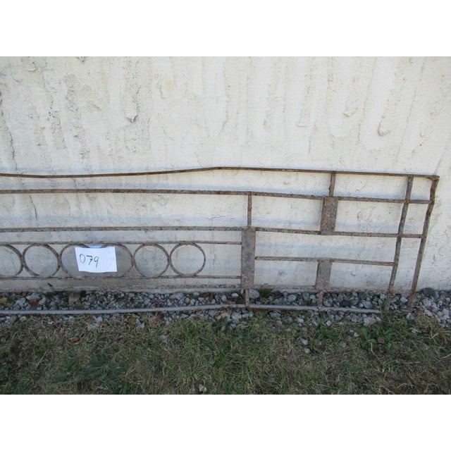 Antique Victorian Iron Gate Window Garden Fence Architectural Salvage Door #079 For Sale - Image 4 of 6